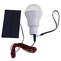 Портативная лампа на солнечной батарее 12 LED - мини USB для внутреннего освещения