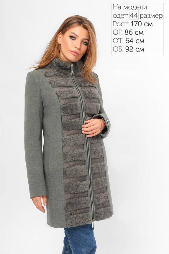 Кашемировое зимнее пальто с мехом, фото 2