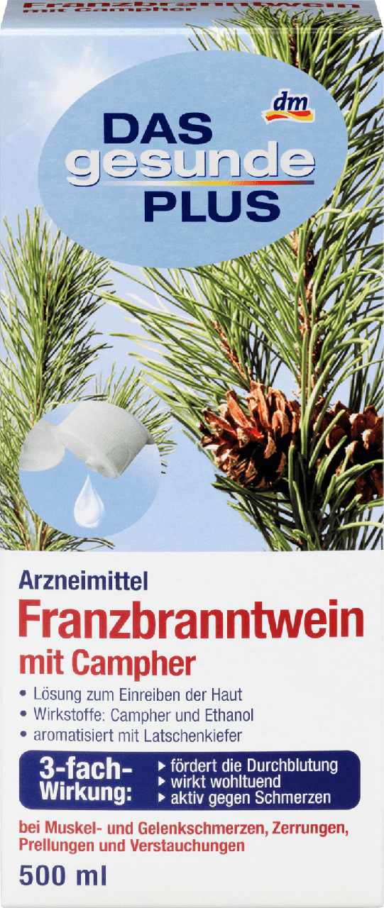 Травяная настойка для растирания Das gesunde Plus Franzbranntwein, 500 ml