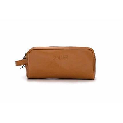 d78405de3793 Купить Кожаная мужская косметичка светло коричневая SK02 757040082 ...
