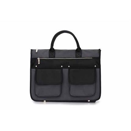 Современный мужской портфель серо черный Solier S24 , фото 2