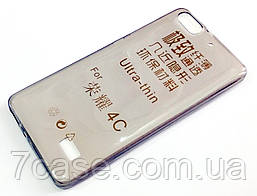 Чехол для Huawei Honor 4C силиконовый ультратонкий прозрачный серый