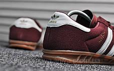 Кроссовки мужские красные Adidas Hamburg Bordo White (реплика), фото 2