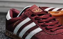 Кроссовки мужские красные Adidas Hamburg Bordo White (реплика), фото 3