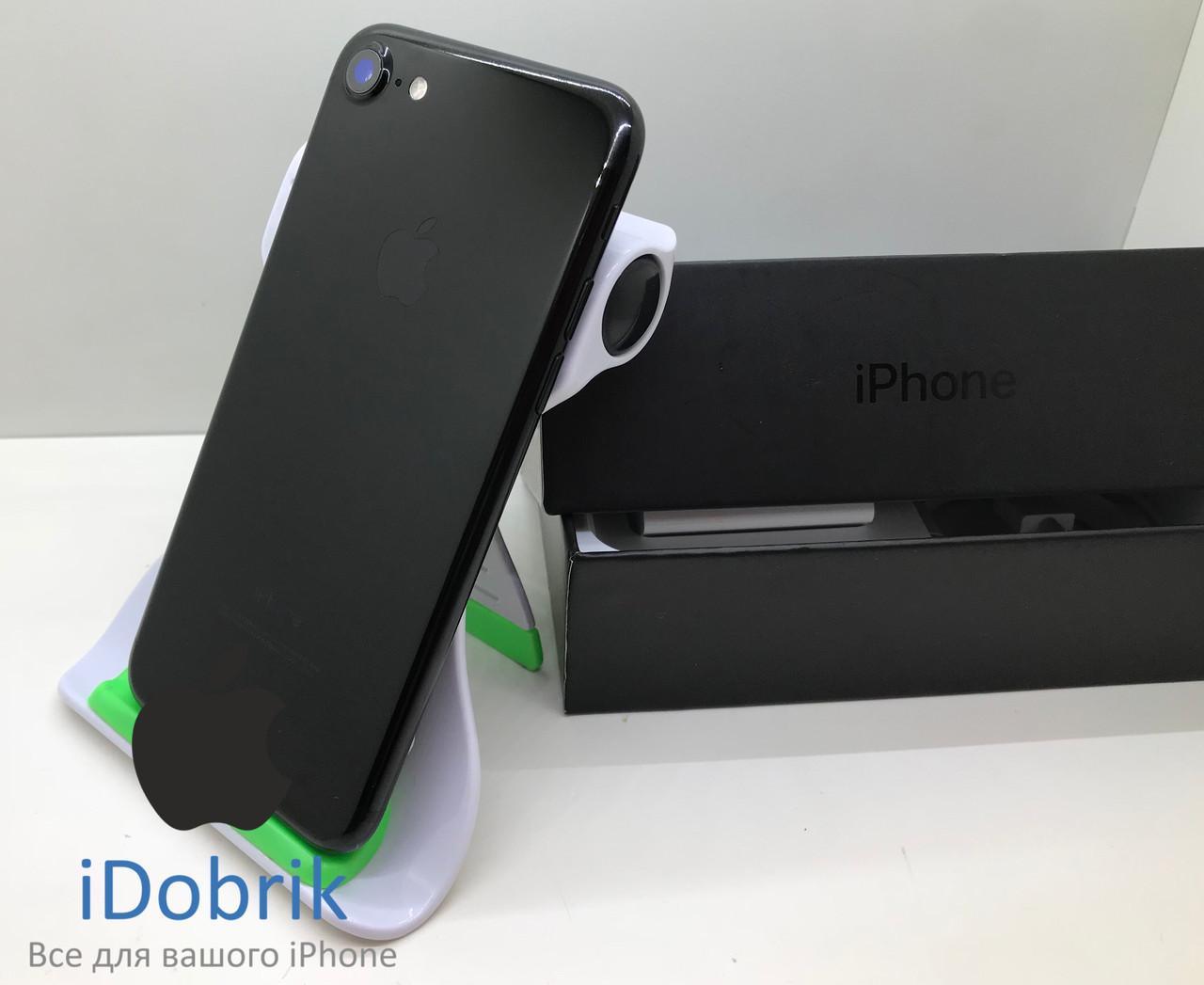 Телефон Apple iPhone 7 256gb Jet Black Neverlock 9/10