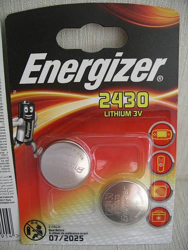 Батарейки ENERGIZER CR2430, цена за 2 шт