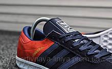 Кроссовки мужские синие Adidas Hamburg Blue Red (реплика), фото 2