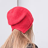 Молодіжна чорна одинарна ангоровая шапка, фото 2