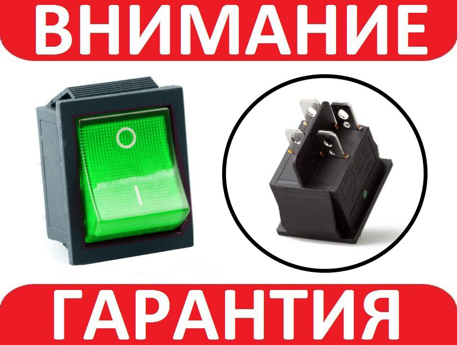 Переключатель, кнопка ЗЕЛЕНАЯ AC KCD4 250В 16А