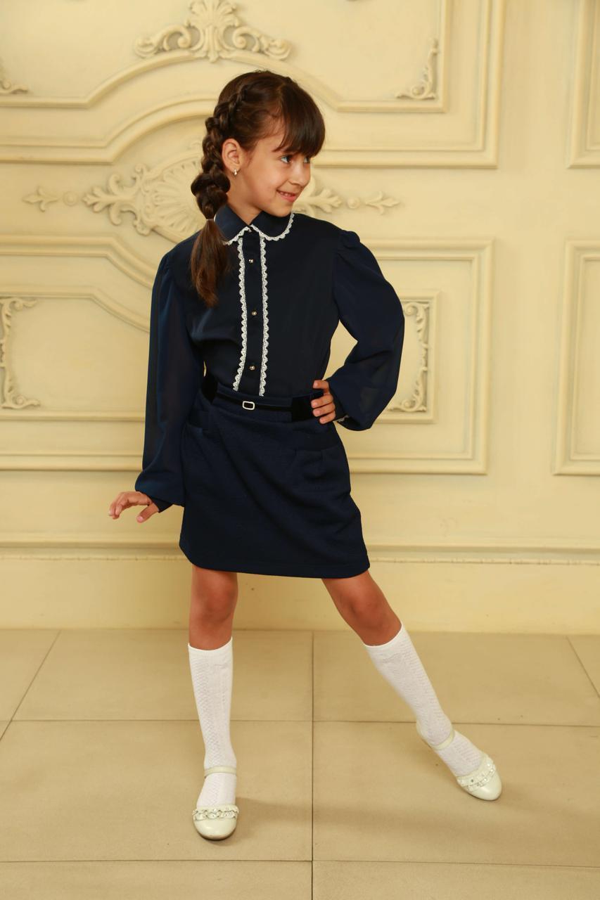 92ee5a5923c Эксклюзивная блуза для девочек в школу  продажа