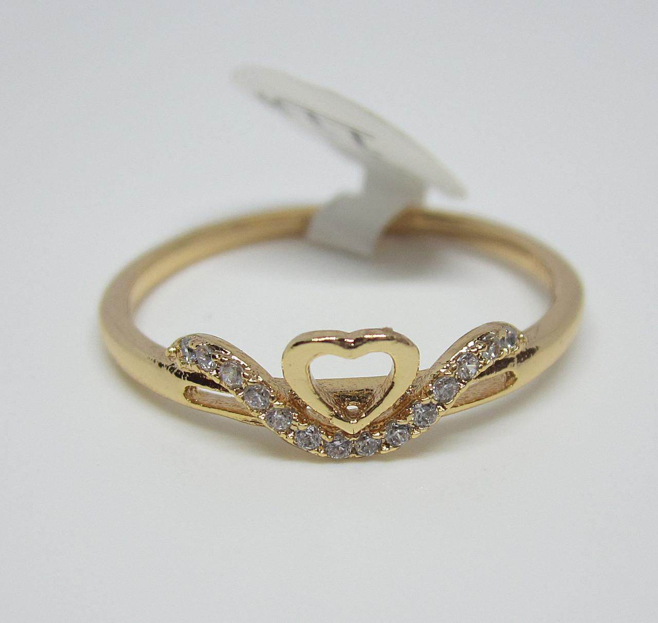 Кольцо XP Сердце принцессы, размер, 18, 19, 20, 21