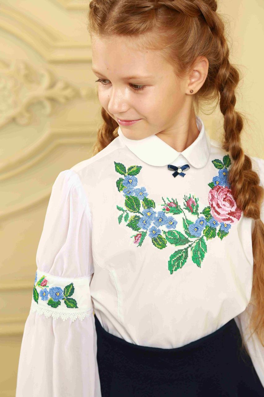 Оригинальная школьная вышиванка для девочек