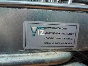 Тележки покупательские б\у VIZ-A 145 л (с поддоном), торговая тележка бу, фото 2