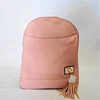 Женский рюкзак экокожа розового цвета СЕU-500701, фото 1