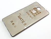 Чохол для Huawei Mate 8 силіконовий ультратонкий прозорий сірий