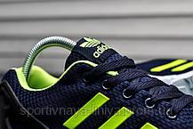 Кроссовки мужские синие Adidas Flux Navy (реплика), фото 3