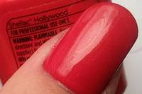 Shellac Hollywood - ярко-красный с микро-блестками