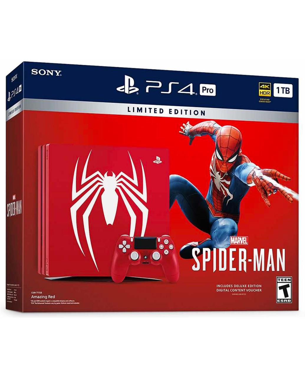 Игровой набор Playstation 4 Pro 1Tb Marvel's Spider-Man