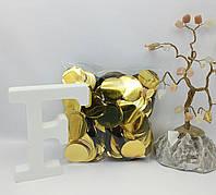 Конфетти для шаров кружочки золото 23 мм, 50 грамм , фото 1