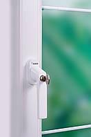 Противовзломная оконная ручка Rehau Linea Design с замком и ключом