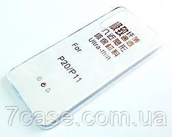 Чехол для Huawei P20 силиконовый ультратонкий прозрачный