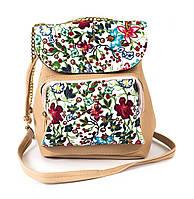 Клатч-сумка из кожзама Wera Polo 030 бежевый Турция