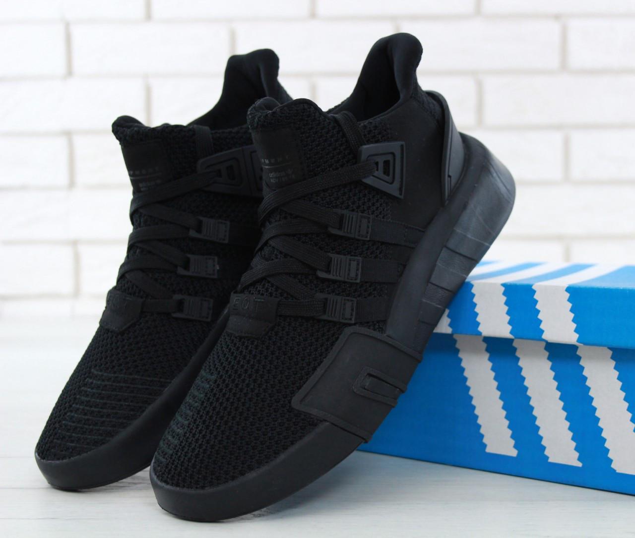 0f233600aad2 Кроссовки мужские Adidas EQT Bask ADV реплика ААА+, размер 42-43 черный  (живые фото)