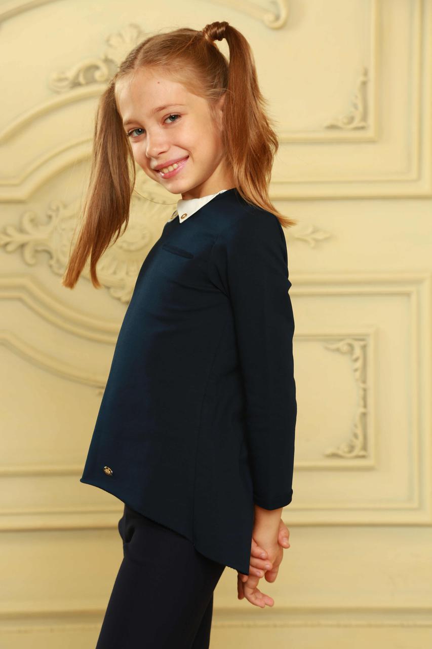 Модный школьный джемпер для девочки