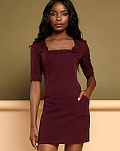 Женское платье по фигуре с квадратным вырезом (Мия jd), фото 3