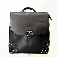 Удобная женская сумка-рюкзак экокожа черного цвета DQС-859499, фото 1