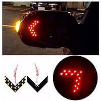 Светодиодный поворотник на зеркало (Красный)