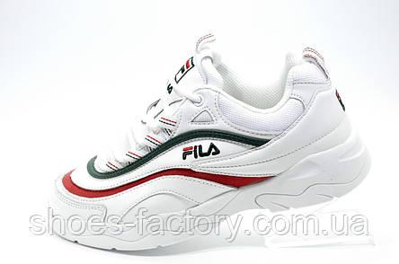 Женские кроссовки в стиле Fila Ray Folder X, Green\Red\White, фото 2