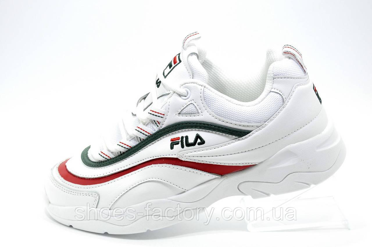 Женские кроссовки в стиле Fila Ray Folder X, Green\Red\White