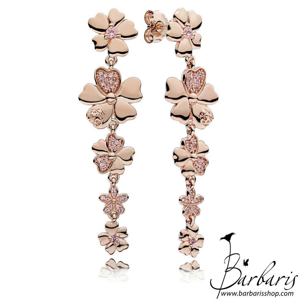 """Серьги """"Полевые цветы"""" PANDORA Rose копия Pandora"""