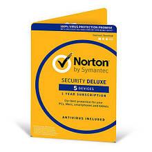 Антивирус Norton Security Deluxe для 5 ПК на 1 год (электронная лицензия)