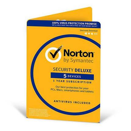 Антивирус Norton Security Deluxe для 5 ПК на 1 год (электронная лицензия), фото 2