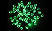 Светодиодная гирлянда на солнечной батарее 100 LED зелёный, фото 1