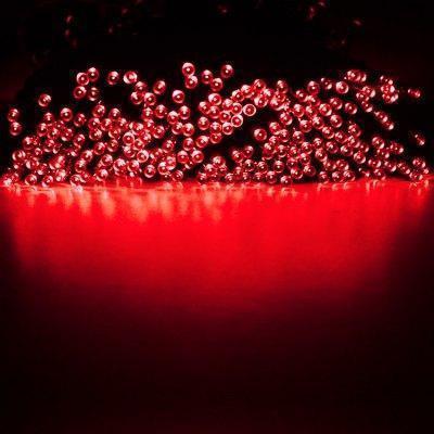 Светодиодная гирлянда на солнечной батарее 100 LED красный