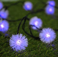Гирлянда на солнечной батарее Праздничные огни фиолетовый, фото 1