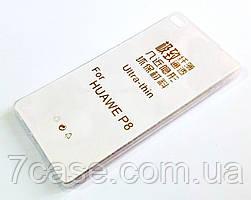 Чехол для Huawei P8 силиконовый ультратонкий прозрачный
