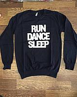 Батник женский RUN DANCE SLEEP. Оптом. Турция
