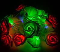 Светодиодная гирлянда Разноцветные Розы 2м 20LED 220В RGB