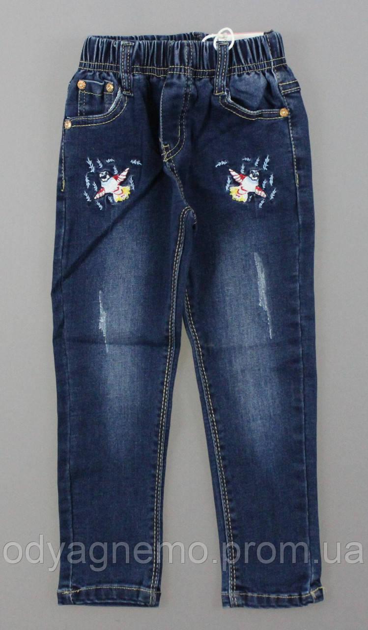 Джинсовые брюки для девочек, 98-128 рр.