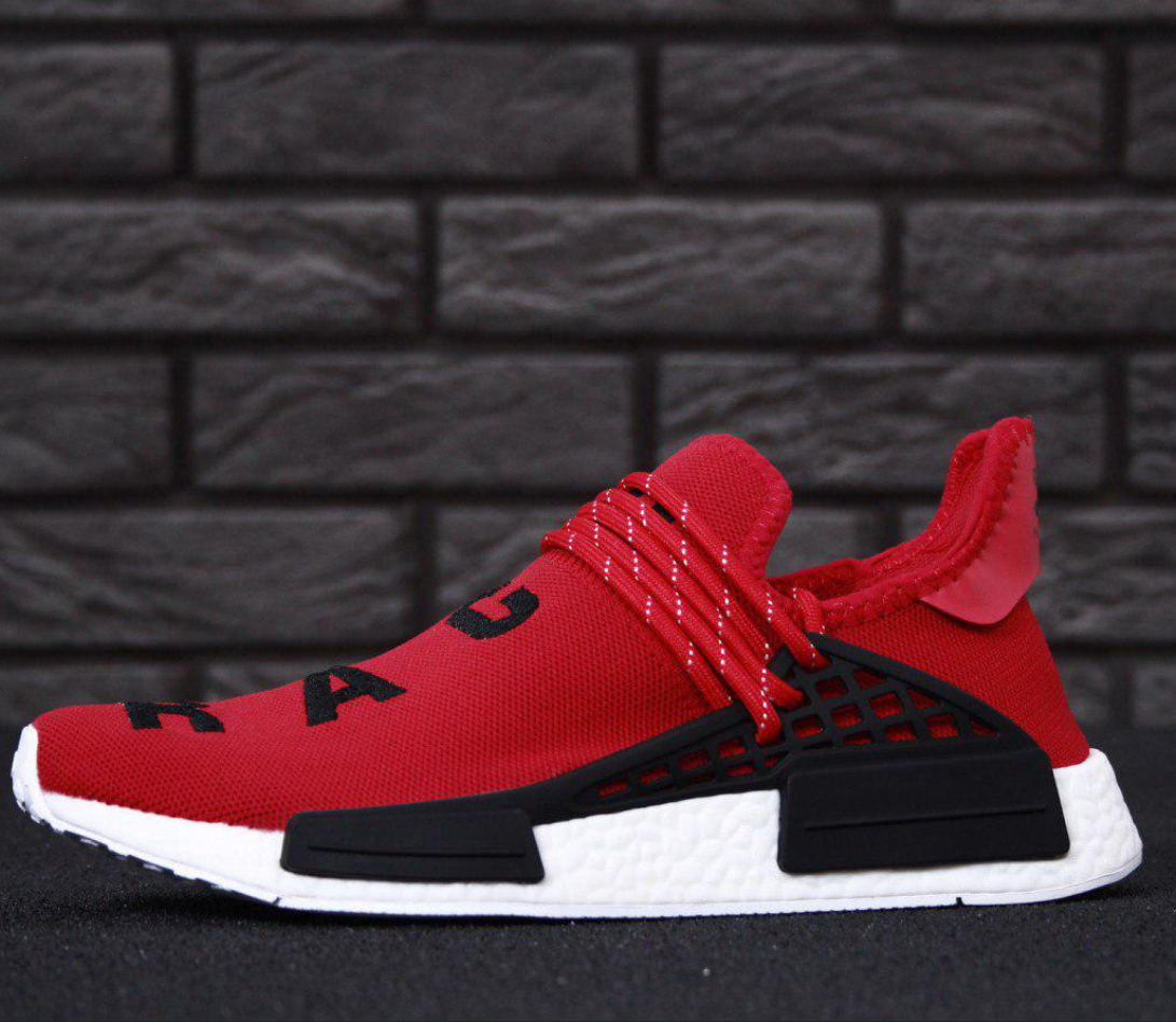 Мужские кроссовки Adidas NMD Human Race x Pharrell Williams Red