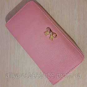 Кошелек - клатч женский в розовом цвете