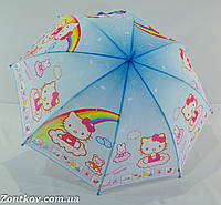 """Детский зонтик """"Hello Kitty"""" с пластиковой спицей от фирмы """"Rainproof""""."""