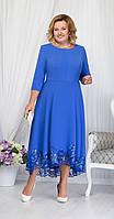 Платье Ninele-5660 белорусский трикотаж, василек, 52