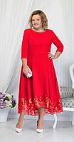 Платье Ninele-5660/2 белорусский трикотаж, красный, 52