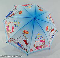 """Детский зонтик """"Hello Kitty"""" с пластиковой спицей от фирмы """"Rainproof""""., фото 1"""