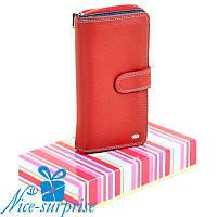 Женский кожаный кошелёк на змейке Dr. Bond W21-17 red (серия Rainbow), фото 1